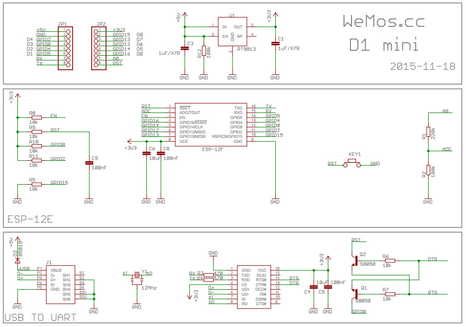 wemos d1 mini shematics