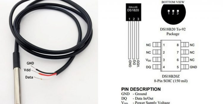 OneWire DS18B20 temperature sensor