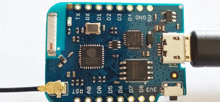 ESP8266 D1 mini PRO extenal antenna