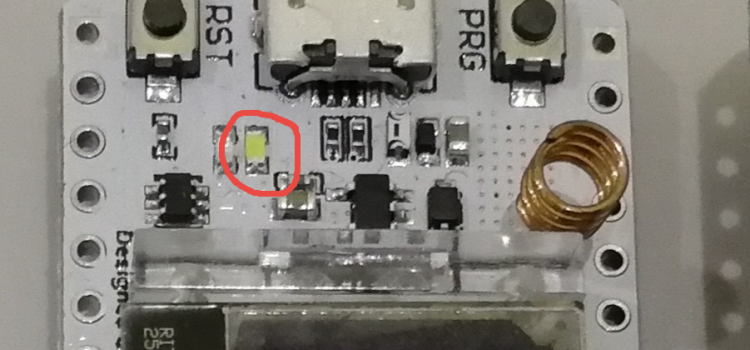 Onboard LED blink – WiFi LoRa ESP32 (heltec)